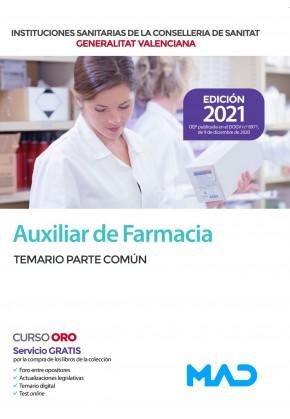 Auxiliar de Farmacia de las Instituciones Sanitarias de la Conselleria de Sanitat de la Generalitat Valenciana
