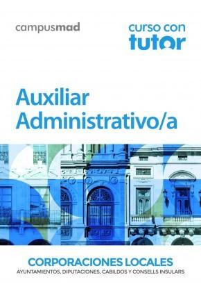 Curso con TUTOR Auxiliar Administrativo de Corporaciones Locales