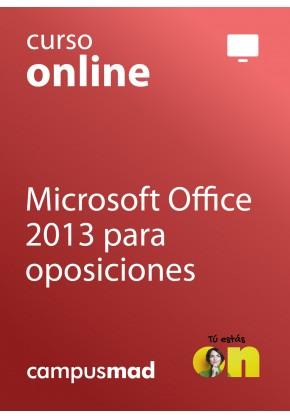 Curso de Microsoft Office 2013 para oposiciones