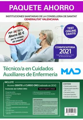 Paquete Ahorro+Test papel Técnico/a en Cuidados Auxiliares de Enfermería