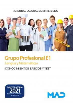 Lengua y Matemáticas (Grupo Profesional E1) Personal Laboral de Ministerios