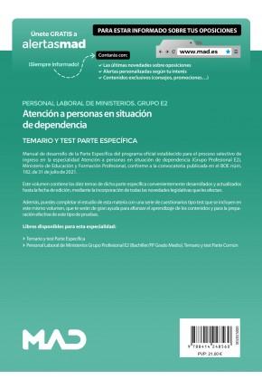 Atención a personas en situación de dependencia (Grupo Profesional E2)