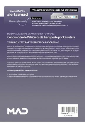 Conducción de Vehículos de Transporte por Carretera (Grupo Profesional E2)