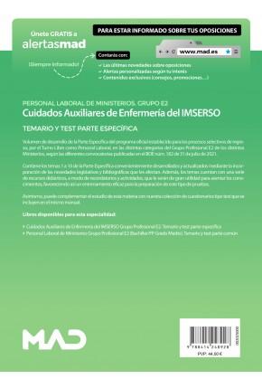 Cuidados Auxiliares de Enfermería del IMSERSO (Grupo Profesional E2)
