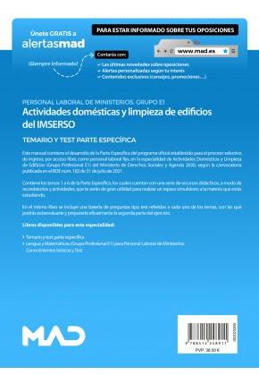 Actividades Domésticas y Limpieza de Edificios del IMSERSO (Grupo Profesional E1)