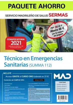 Paquete Ahorro Técnico en Emergencias Sanitarias SUMMA 112