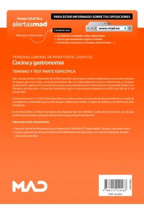 Cocina y gastronomía (Grupo Profesional E2) del Ministerio de Educación y Formación Profesional