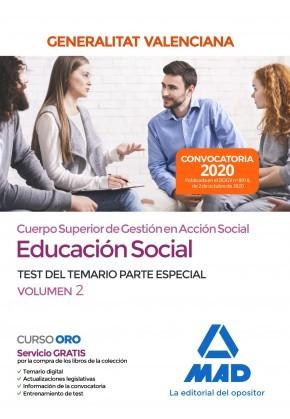 Cuerpo superior de gestión en acción social de la Administración de la Generalitat Valenciana, escala Educación Social