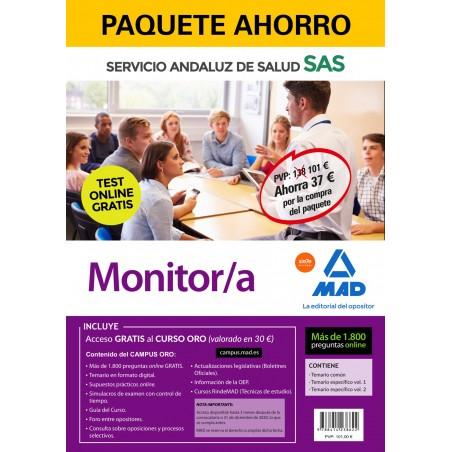 Paquete Ahorro y Test online GRATIS Monitor/a del Servicio Andaluz de Salud