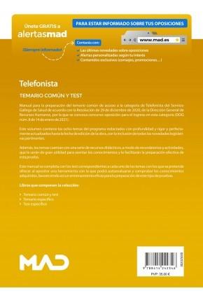 Telefonista del Servicio Gallego de Salud (SERGAS)