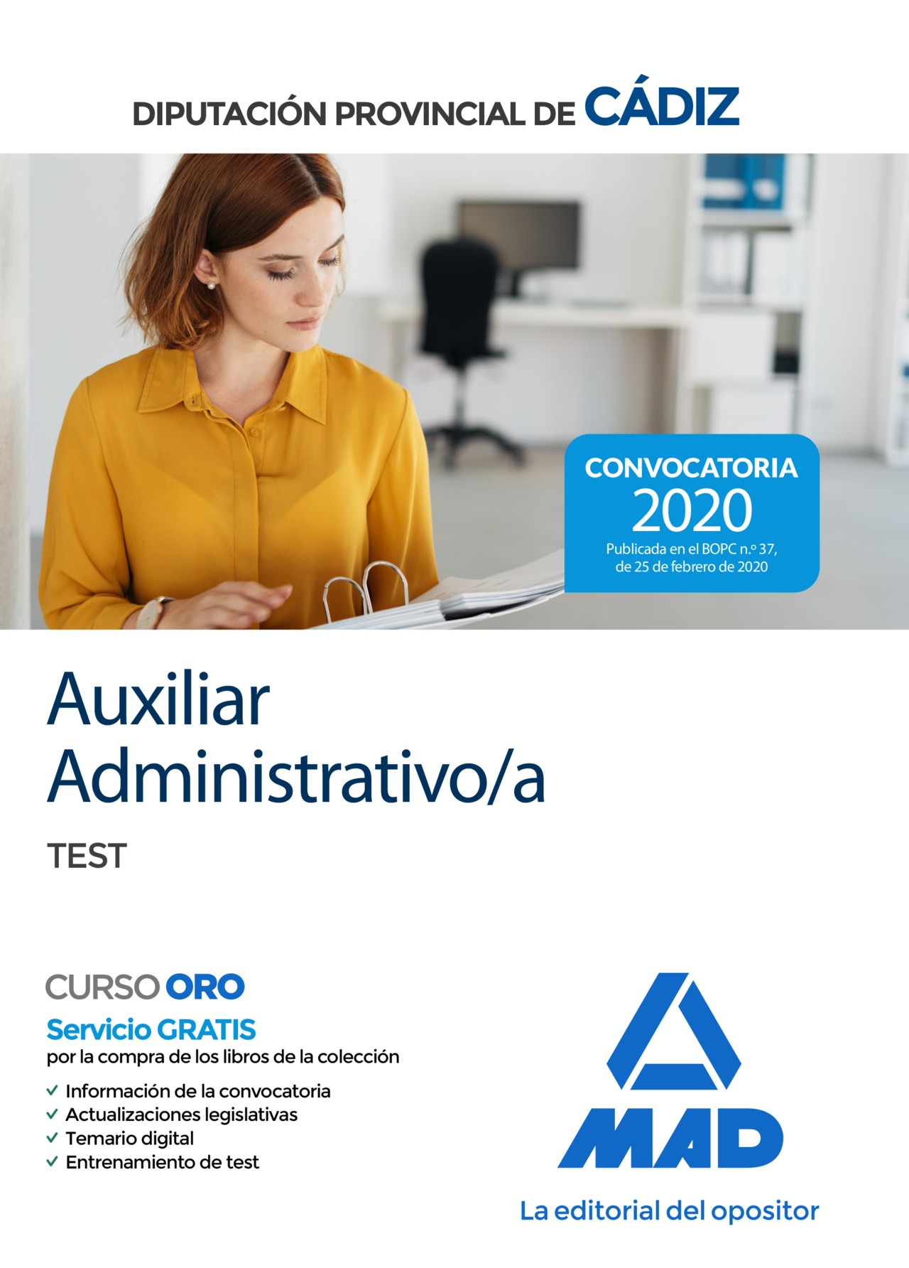 Auxiliar Administrativo/a de la Diputación Provincial de Cádiz