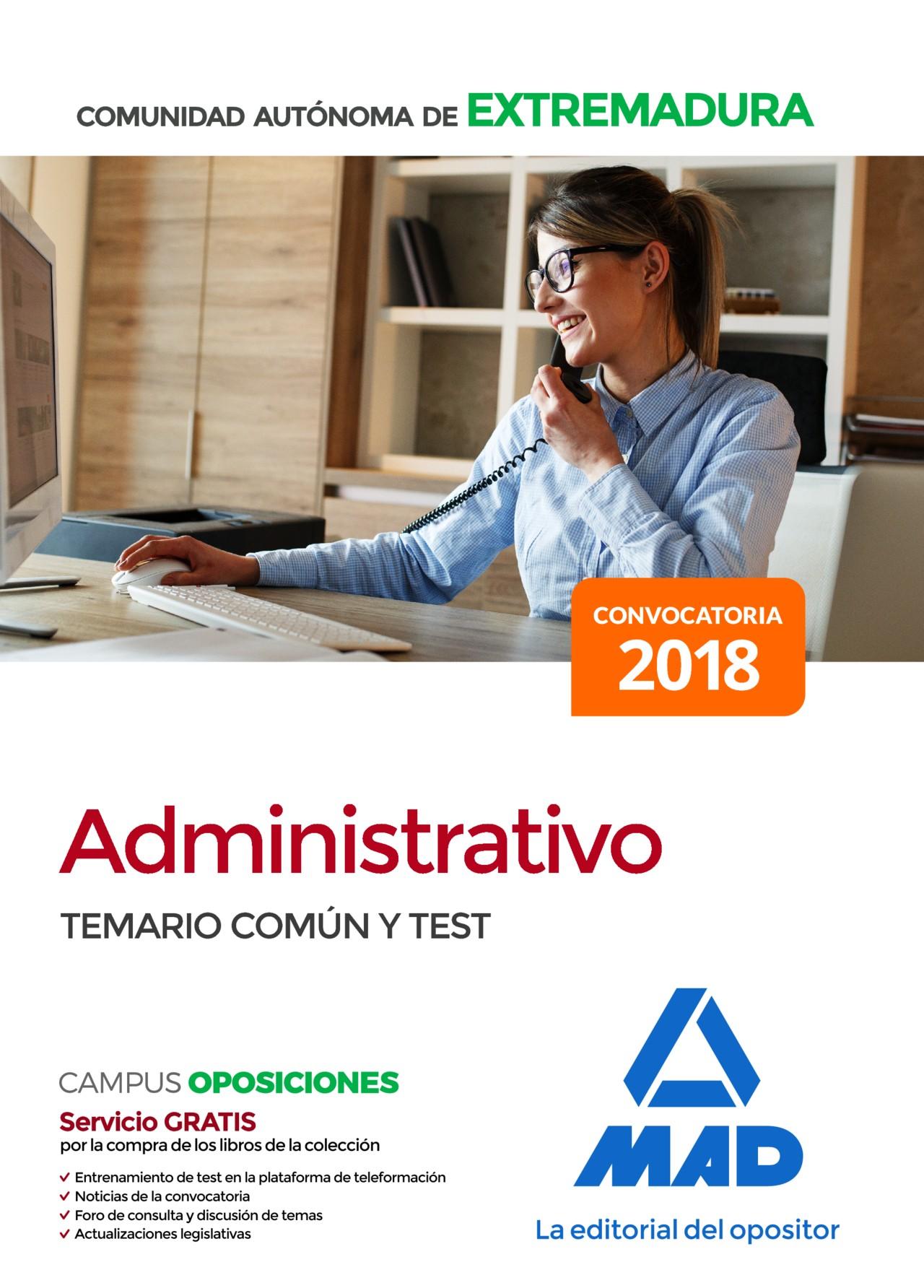 Administrativo de la Comunidad Autónoma de Extremadura