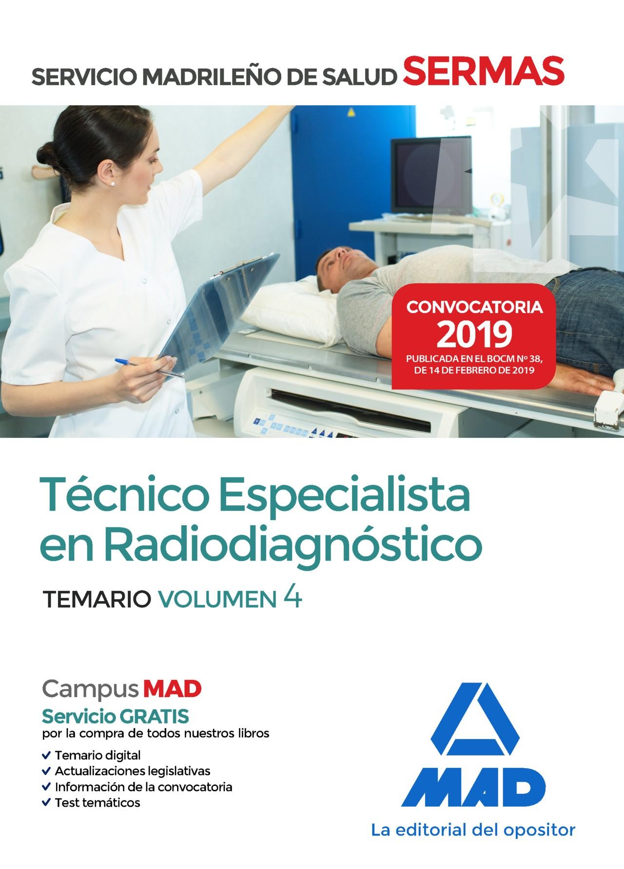 Técnico Especialista en Radiodiagnóstico del Servicio Madrileño de Salud