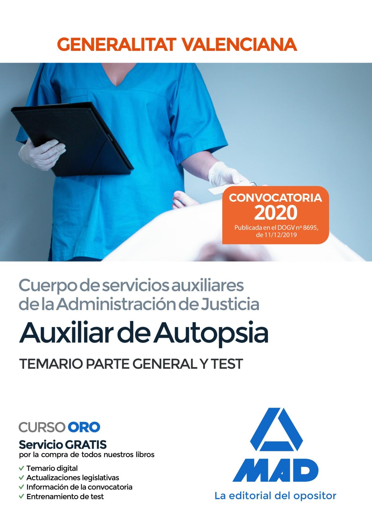 Auxiliar de Autopsia de la Administración de Justicia de la Generalitat Valenciana