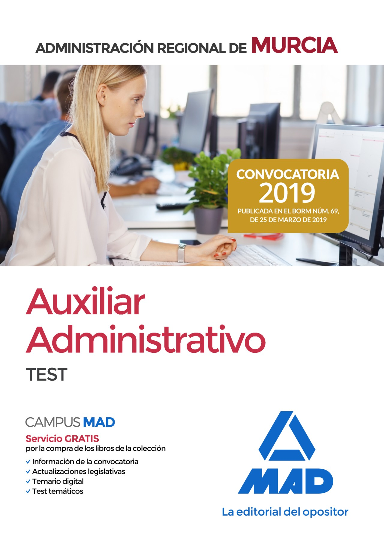Auxiliar Administrativo de la Administración Regional de Murcia