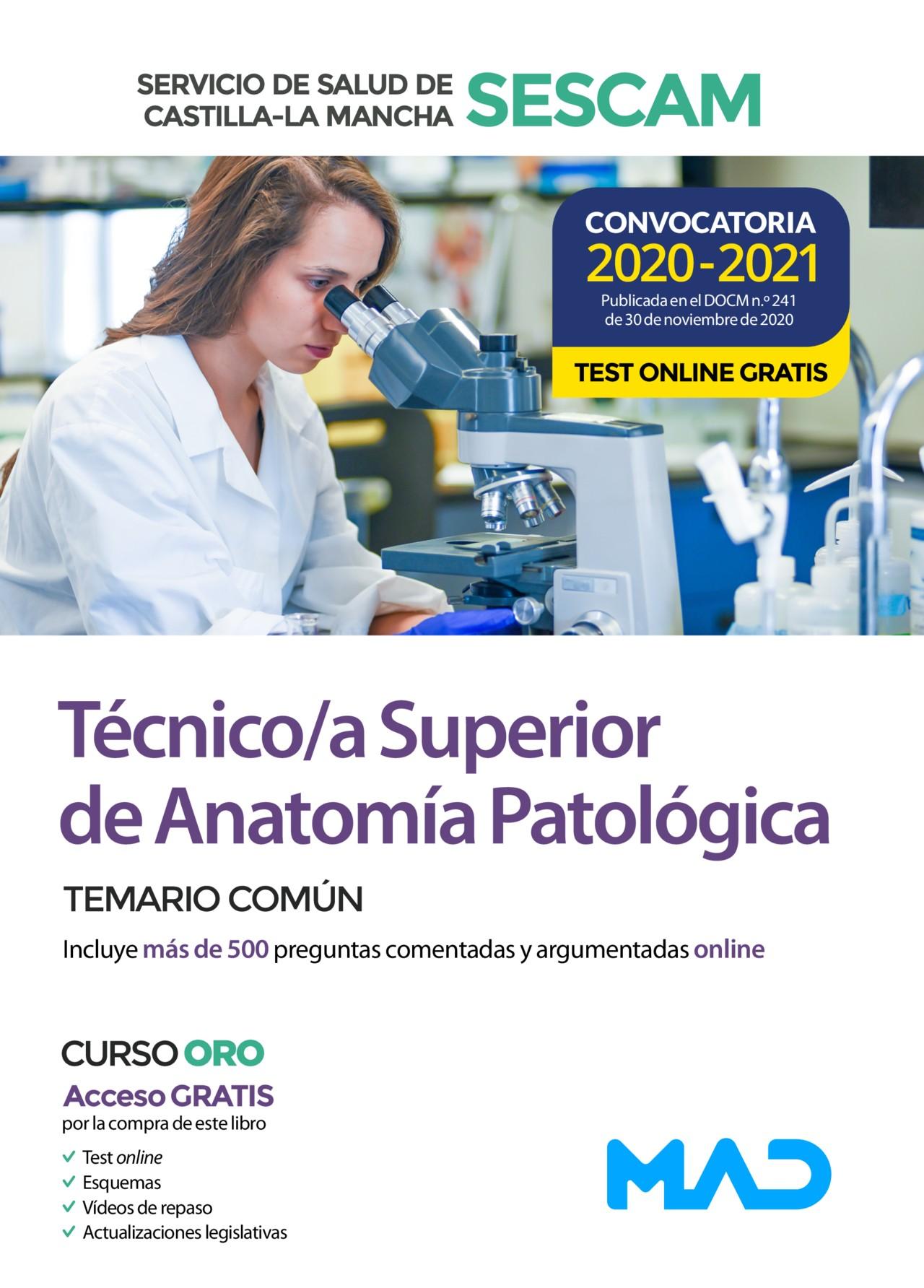 Técnico/a Superior de Anatomía Patológica del Servicio de Salud de Castilla-La Mancha (SESCAM)